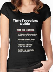 Time travelers guide Women's Fitted Scoop T-Shirt