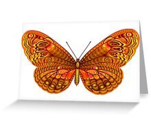 The full color tropical butterfly Greeting Card
