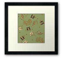 Green Safari Framed Print