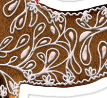 Chinese Zodiac Gingerbread Horse Sticker