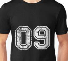 Sport Team Jersey 09 T Shirt Football Soccer Baseball Hockey Double Basketball Zero Nine 0 91 Unisex T-Shirt