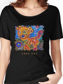 STEAMPUNK COOL CAT KITTY Women's Relaxed Fit T-Shirt