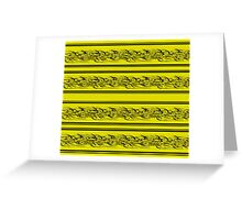 Yellow abstract barbwire Greeting Card
