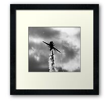 Red Arrows Monochrome Framed Print