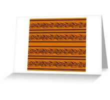 Orange abstract barbwire Greeting Card