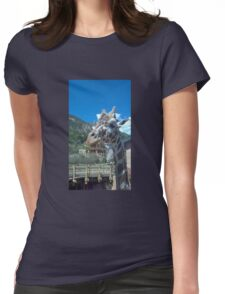 Giraffe at the zoo  Womens Fitted T-Shirt