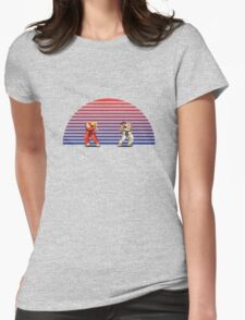 Ken v Ryu Womens Fitted T-Shirt