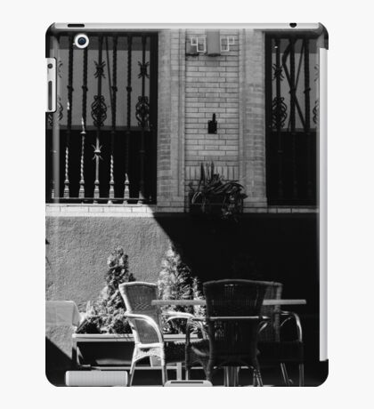 Streets of Seville - In Black and White  iPad Case/Skin
