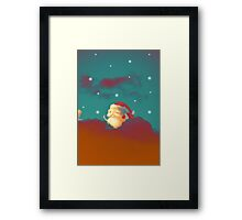 Santa Clouds Framed Print