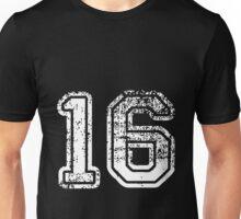 Sport Team Jersey 16 T Shirt Football Soccer Baseball Hockey Double Basketball One Six 1 6 Six Ten Sixteen Unisex T-Shirt
