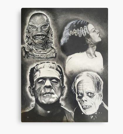 Classic Universal Monsters Metal Print