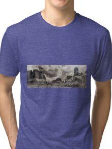 Moab - Retro panorama Tri-blend T-Shirt