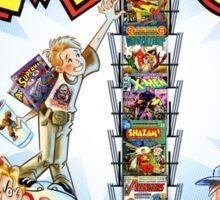 The Comic Book Spinner Rack Sticker