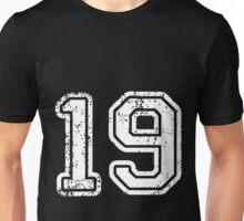 Sport Team Jersey 19 T Shirt Football Soccer Baseball Hockey Double Basketball Nine One 1 9 Nineteen Nine Teen Unisex T-Shirt