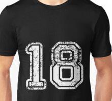 Sport Team Jersey 18 T Shirt Football Soccer Baseball Hockey Double Basketball Eight One 1 8 Eighteen Eight Teen Unisex T-Shirt