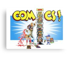 The Comic Book Spinner Rack Metal Print