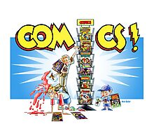 The Comic Book Spinner Rack Photographic Print