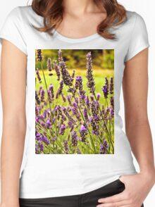 Magische Lavendel-Wiese Women's Fitted Scoop T-Shirt