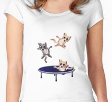 trampolining pussie's Women's Fitted Scoop T-Shirt