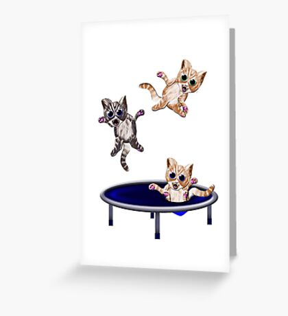 trampolining pussie's Greeting Card
