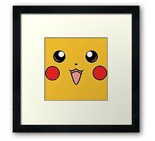 Pokemon - Pikachu Face Yellow Framed Print
