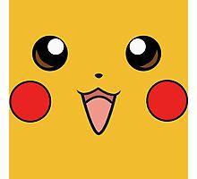 Pokemon - Pikachu Face Yellow Photographic Print