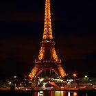 Eiffel Reflections & Light Trails by Michael Matthews