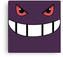 Pokemon - Gengar Face Purple Canvas Print