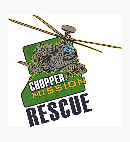 Chopper Mission Rescue Photographic Print