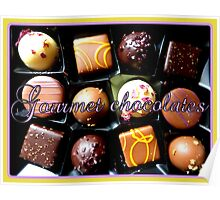Gourmet Chocolates Poster