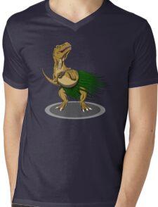 T-Rex Ukulele Mens V-Neck T-Shirt