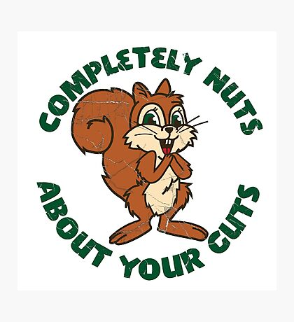 Completely nuts squirrel Photographic Print