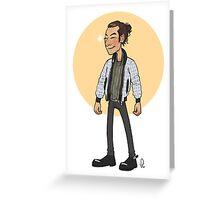 Bomber jackets Aidan Greeting Card