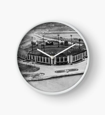 Roosevelt Stadium Vintage Photo Clock