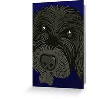 Scruffy Dog Greeting Card