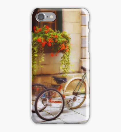 Tandem Bicycle and Flowers 2 iPhone Case/Skin