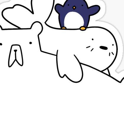 Polar Bear Harp Seal and Penguin Sticker