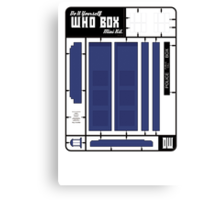 The Who Box Mini Kit Canvas Print