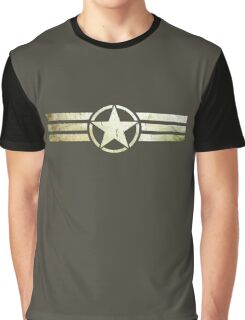 Military star with stripes grunge Graphic T-Shirt