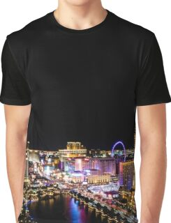 Las Vegas at Night Graphic T-Shirt