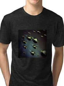 Meteorites asteroids in space surrealist futuristic science fiction scifi artistic square color analog 35mm film photo Tri-blend T-Shirt