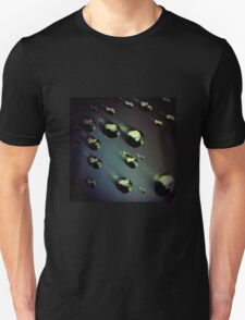 Meteorites asteroids in space surrealist futuristic science fiction scifi artistic square color analog 35mm film photo T-Shirt