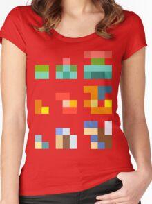 Minimalist Pokemon starters Women's Fitted Scoop T-Shirt
