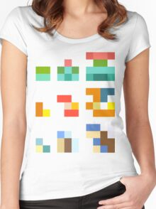 Minimalist Pokemon starters Women's Fitted Scoop T-Shirt