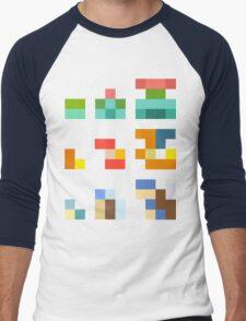Minimalist Pokemon starters Men's Baseball ¾ T-Shirt