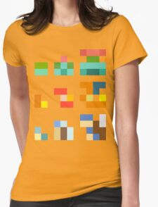 Minimalist Pokemon starters Womens Fitted T-Shirt