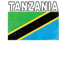 Tanzania Distressed Flag Sport Design Photographic Print