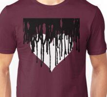 Dark Heart - Maroon Background  Unisex T-Shirt