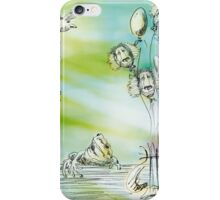Flying balloons iPhone Case/Skin