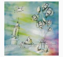 Flying balloons Baby Tee